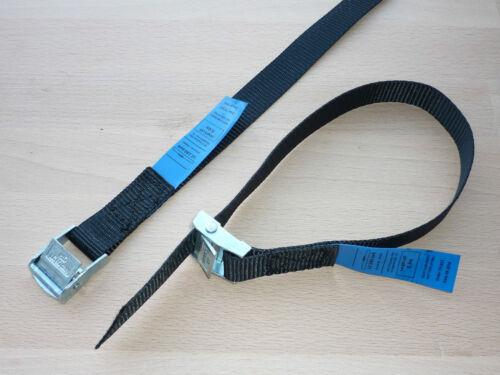 4 X MINI-zurrgurte serraggio Cinghie Fissaggio Cinghie portascì PORTABICI Nero