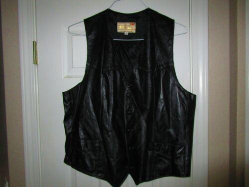 Men's Tregos Western wear Leather Vest Black Sz 46