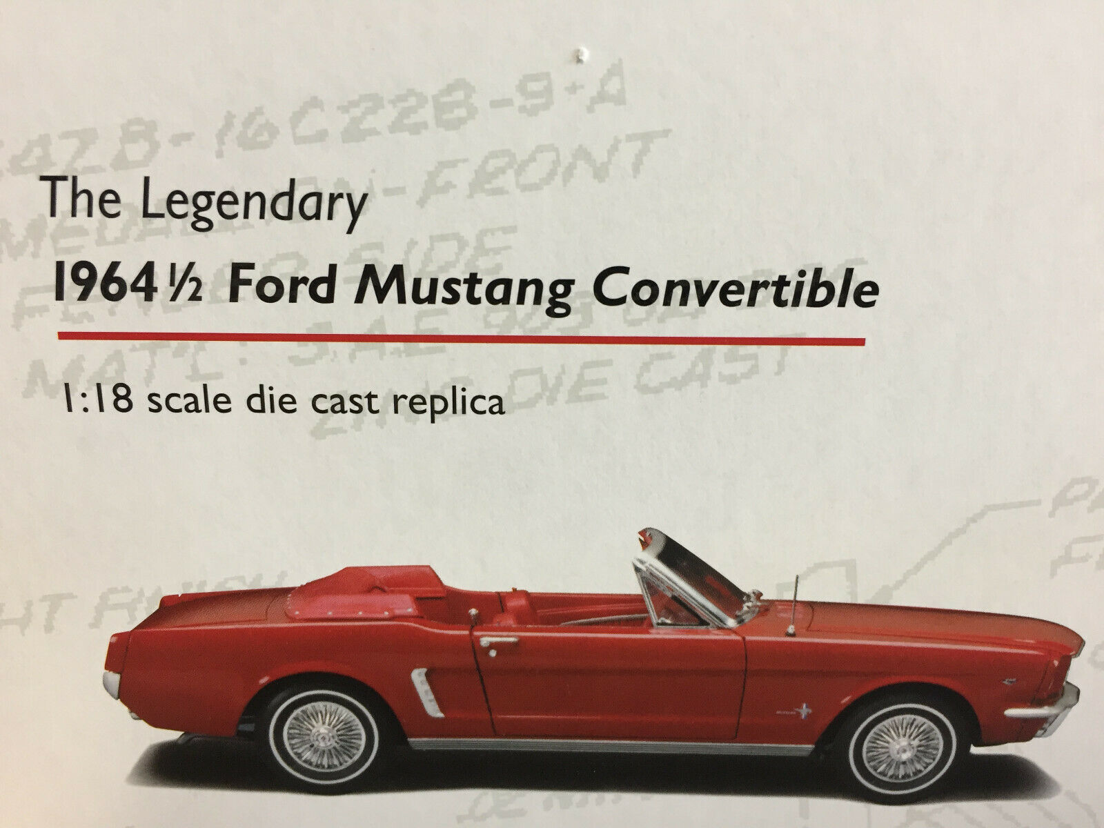 The Legendary Ford Mustang ConGrünible 1964 1 2 1 18 Precision Collection 100