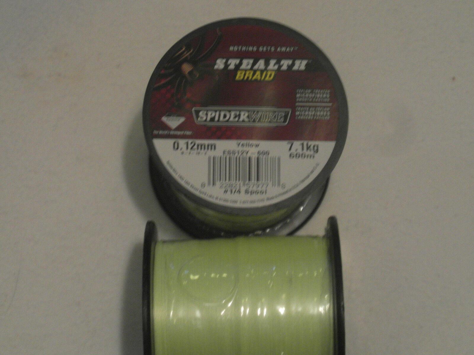 SPIDERWIRE STEALTH BRAID 600m-012mm-7,1 kg-GELB