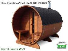 Barrel Sauna Kit for 4-6 Persons, HarviaM3 Heater, Free Upgrades, Free Shipping!