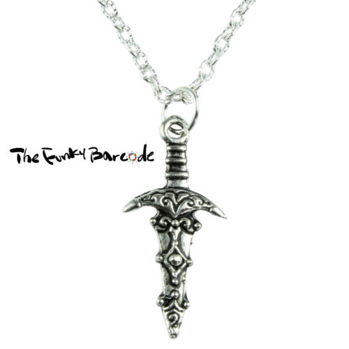 DAGGER PENDANT NECKLACE Novelty Mini Quirky Gothic Emo Sword Kitsch Weapon TFB