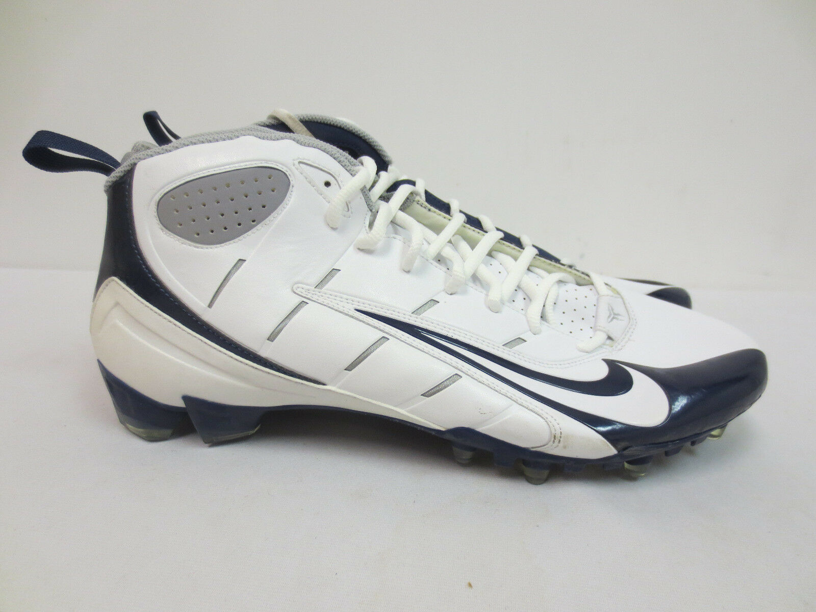 29c77f7f9 NIKE 14 CLEATS SUPER SPEED TD GAME ISSUED MENS 318730 141 NAVY WHT SIZE  FOOTBALL nrlzrd5963-Men