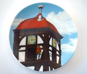 Dietemann-Eschwege-Collectors-Porcelain-Wall-Plate-Altenkunstadt-Germany-Clock