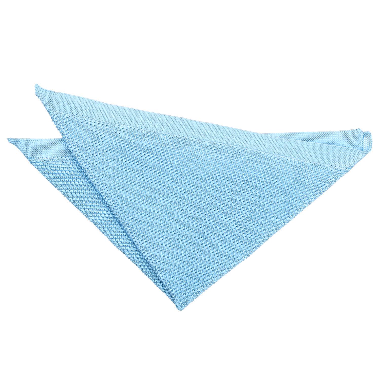 Bebé Azul Bolsillo Cuadrado Pañuelo Pañuelo de punto para hombre de punto liso por DQT