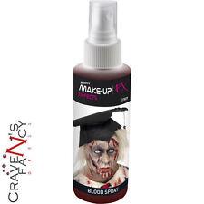 Realista Spray Sangre Falsa Atomiser Vampiro Zombie Maquillaje De Disfraces De Halloween