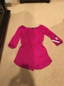 scoperte M Taglia Aqua Magenta Pagliaccetto a Brand spalle Nwt in adorable maglione EWxqq81pzw