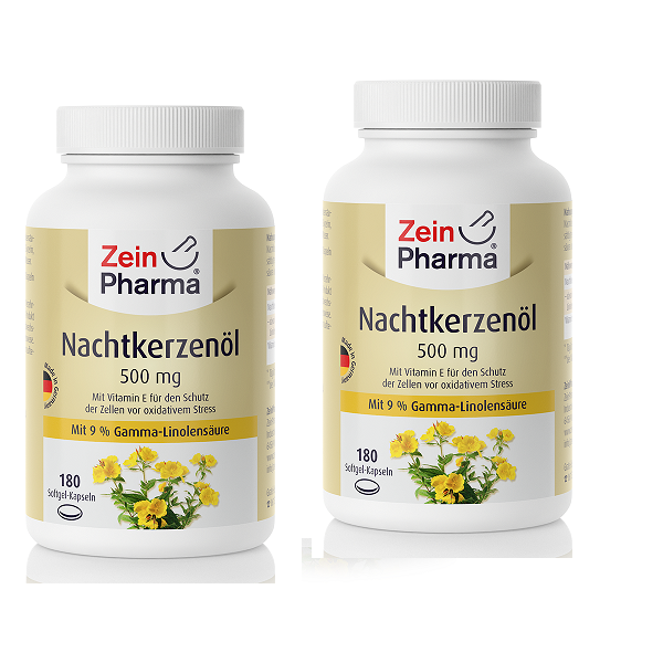 Nachtkerzenöl 500 mg ( 360 k Softgel) VitaminE 100% kaltgepresstes Hochwertige