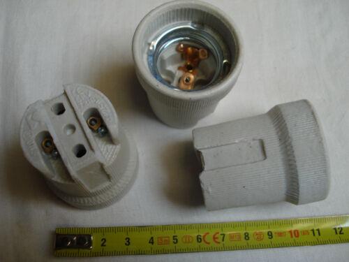 lot de 2 douille à vis neuve douille nue E27 en porcelaine