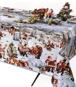 wachstuch tischdecke f r weihnachten abwaschbar tischdeko weiche meterware tolko ebay. Black Bedroom Furniture Sets. Home Design Ideas