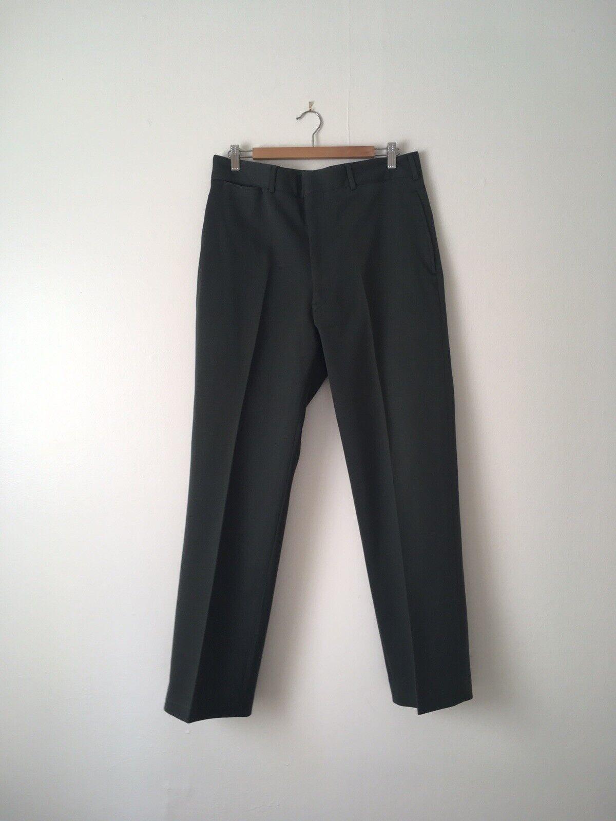 1960s Ceremonial Olive Wool Army Trousers Talon Zipper MIL-T-3982 Size 34 X 32