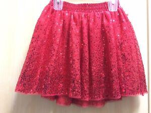c0e961803 New Girls RED Valentine's Day Sequin Tutu mini skirt M 7/8 Cat and ...