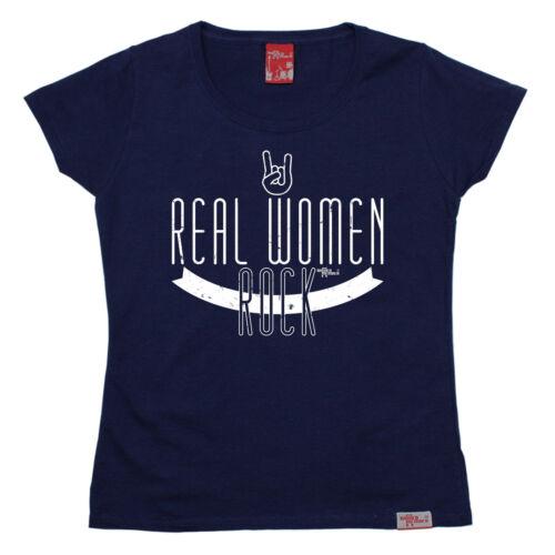 Le DONNE VERE Rock Da Donna T-shirt Banda in Metallo Pesante Moda Divertente Regalo Di Compleanno
