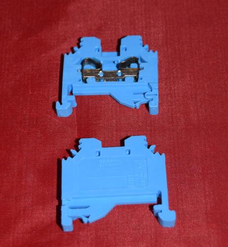 NEU WAGO 281-104 Blau Durchgangsklemme 4mm²