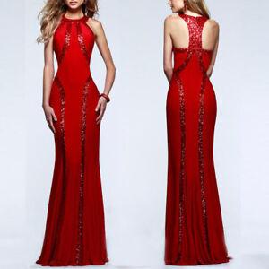 SEXY langes Abendkleid Ballkleid Partykleid Party Kleid ...