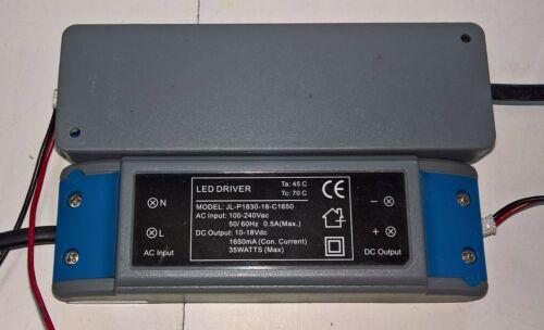 LED Driver JL-P1830-18-C1650 Constant Current 1650mA 15-35W 100-240VAC 10-18VDC