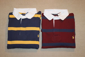 NEW-Polo-Ralph-Lauren-Big-and-Tall-Pony-Logo-Striped-Rugby-Shirt
