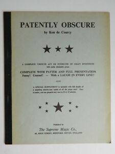 Patently Obscure - Ken Di Courcy - Supreme