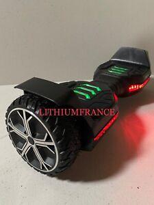 Hoverboard tout terrain 6,5 pouces 2*300W, Haut Parleurs Bluetooth, Lumière LED
