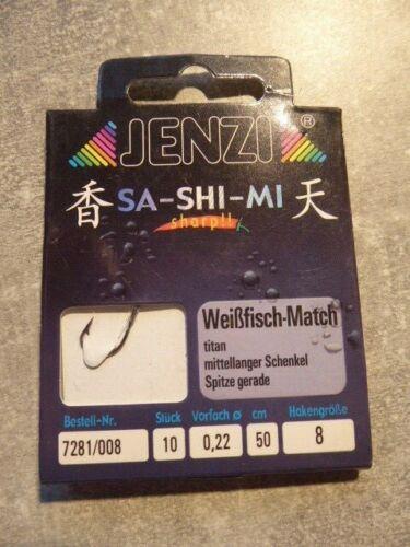 JENZI-Match-Weißfisch-Vorfachhaken-Angelhaken-Wurmharken-Harken-Vorfach-Angeln