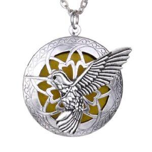 Hummingbird Pendant Necklace Essential Oil Diffuser Perfume Locket Aromatherapy