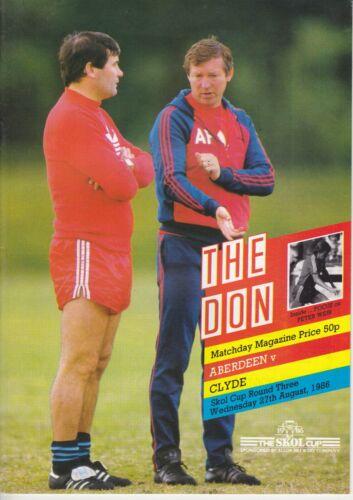 Aberdeen Home Programmes Season 1986-1987