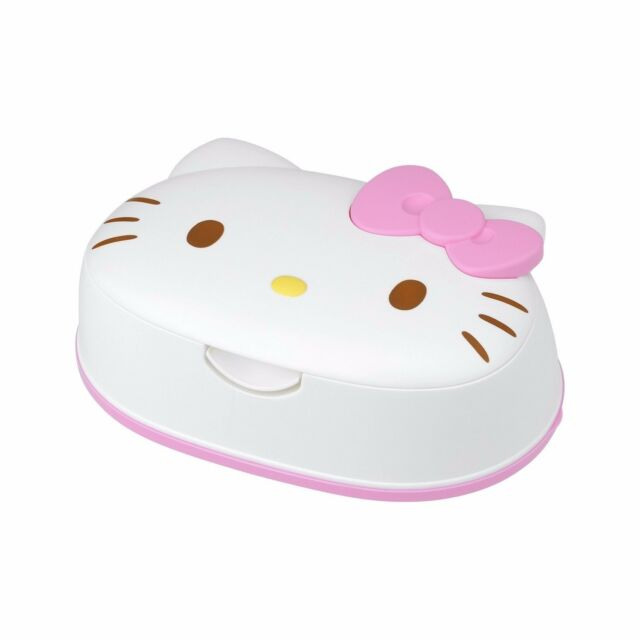 NEW Sanrio Hello Kitty Wet Tissue 80 sheets with face-type Case Made in Japan