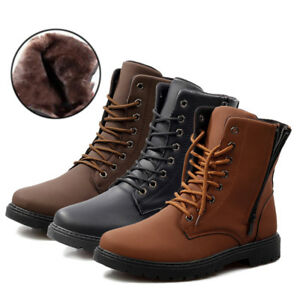 Winter-Men-039-s-Retro-High-Top-Martin-Boots-Anti-Slip-Lace-Up-Shoes-amp-Ankle-Boots