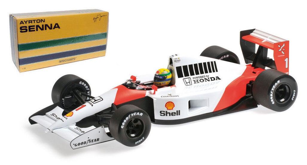 Minichamps McLaren Honda MP4 6 campeón mundial 1991-Ayrton Senna 1 18 Escala