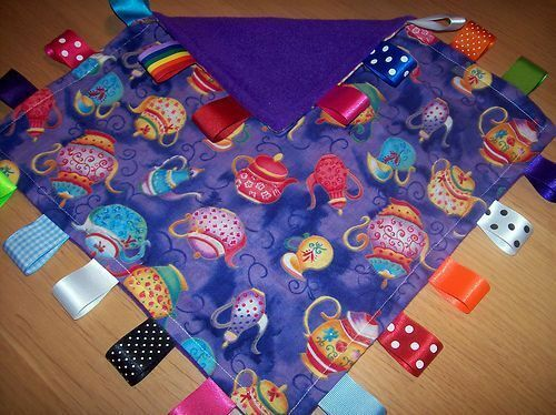 TEAPOT BABY//TODDLER TAGGY BLANKET//COMFORTER//GIFT *****MANY OPTIONS*****