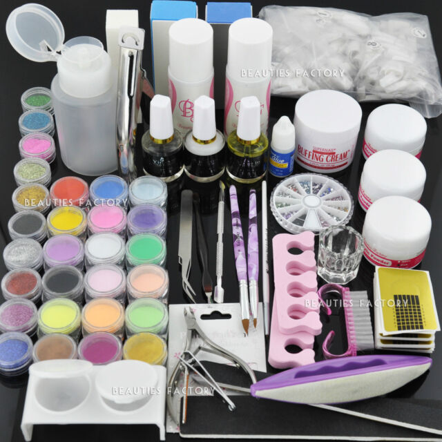 Beauties Factory Full Set Kit for Acrylic & Manicure Pedicure Nail ...