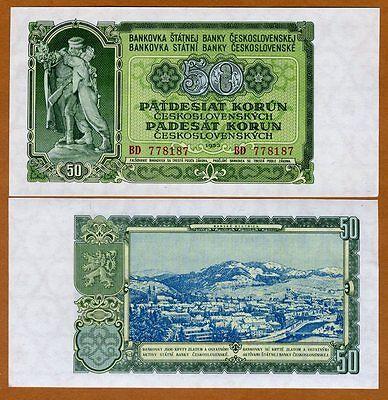 1953 84a UNC /> Russian Printing Czechoslovakia 25 Korun P-84