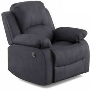 Image Is Loading Gray Electric Power Recliner Arm Chairs Charcoal Grey