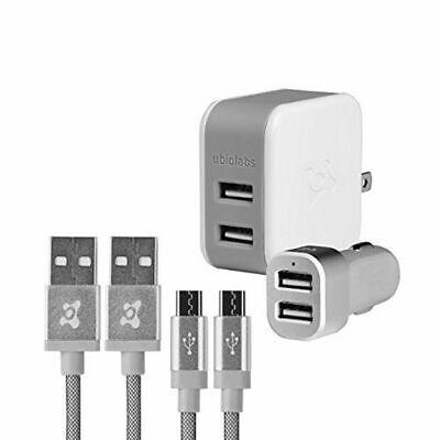 Lot 8 x ubiolabs Premium Certified Mobile Charging Kit Micro USB AC//DC Adapter