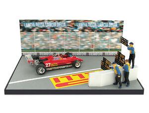 1-43-Diorama-Brumm-Ferrari-126C2-Gilles-Villeneuve-1982-034-Gilles-J-039-acusse-034-RARE