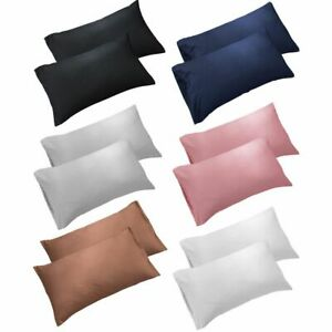 1-2X-Set-Pure-Cotton-Bed-Pillow-Case-Pillow-Covers-Ultra-Soft-Solid-Pillow-cases