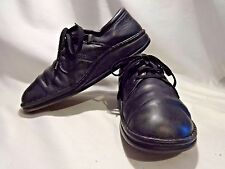 FINN COMFORT 41 Shoe Vaasa Black Laceup Oxfords German Made Unisex Work Support