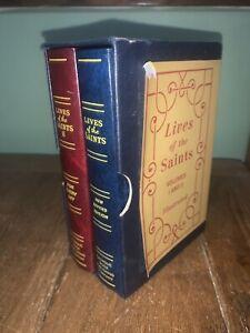 LIVES-OF-THE-SAINTS-Volumes-I-and-II-Illustrated-BOXED-SET-Catholic