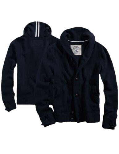 $68 Mens CALI HOLI Shawl Collar Cardigan Style Button Fleece Jacket Navy 988311