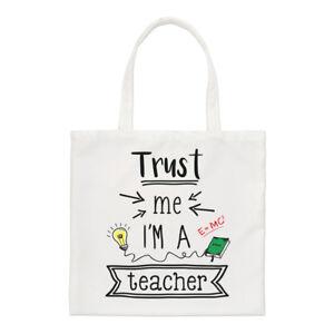 Trust Me I/'m A Teacher Regular Tote Bag Funny Gift Best Favourite School