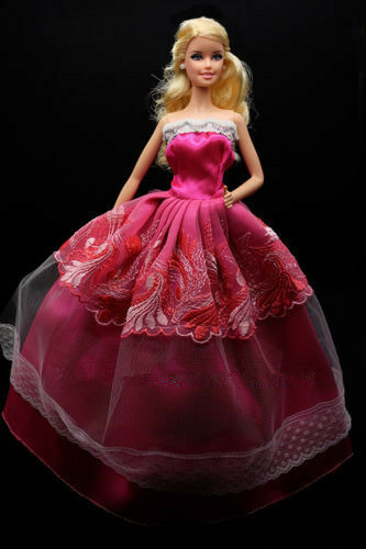 5 pcs Party Wedding Gown Dresses Clothes 10 Pairs Shoes For Barbie Doll