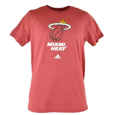 EntrüCkung Nba Adidas Miami Heat Primary Logo Herren Erwachsene Rot Basketball T-shirt Baseball & Softball