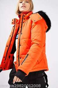 Topshop-Snow-Ski-Jacket-With-Faux-Fur-Hood-Size-UK6-EUR34-US2