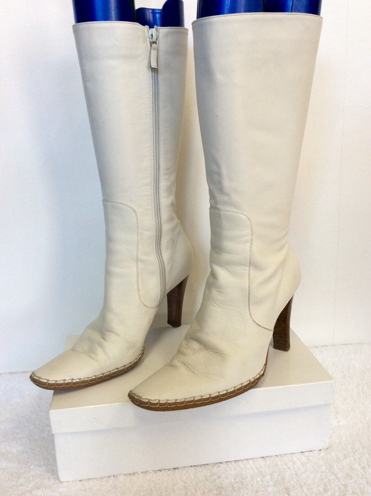 KURT 3.5/36 GEIGER WINTER Weiß LEATHER CALF LENGTH Stiefel SIZE 3.5/36 KURT dd7e21