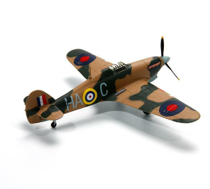 1 72 Hurricane Fighter WWII Diecast Allory Aircraft Military Model