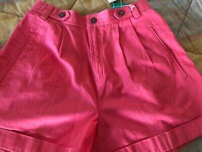 Bellissimo Vintage 80's Lizsport Misura 6 Rosa Super Vita Alta Mom Pantaloncini Nuovo Con Gamma Completa Di Articoli