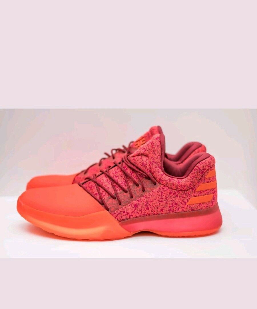 NEW Adidas James Harden Vol. 1 Boost Basketball Shoes Red B39501 Uomo Size 12.5