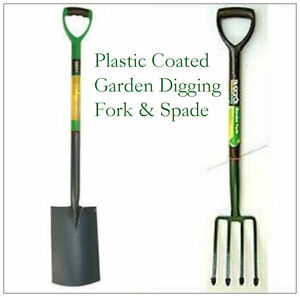 Heavy duty garden digging and border spade and fork set for Garden fork and spade set