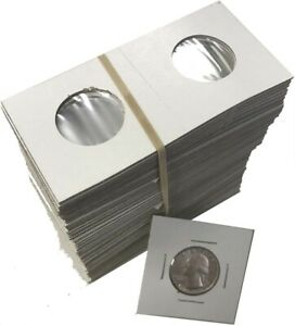 NEW *240 ASSORTED SIZE 2X2 CARDBOARD//MYLAR COIN HOLDERS FLIPS* YOU PICK AG23