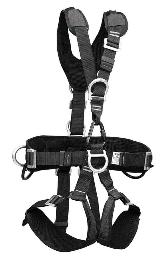 Treeup Imbragatura P 90 Nero Cintura di Sicurezza Copritetto Artigiano Cura Degi